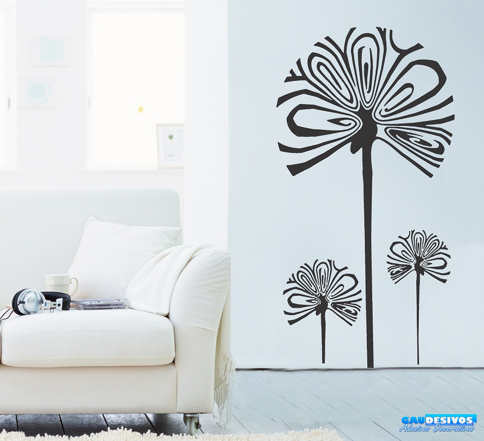 Aparador De Livros Em Ingles ~ Adesivo Decorativo De Parede, Casa, Quarto Arvore Floral R$ 34,99 em Mercado Livre
